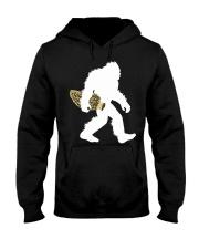 Bigfoot with Morel Mushroom Hooded Sweatshirt front