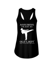 karate assuming Ladies Flowy Tank thumbnail