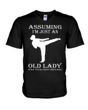 karate assuming V-Neck T-Shirt thumbnail