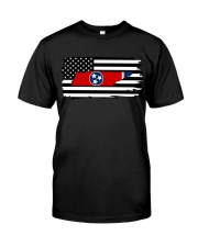 American and Tennessee map 9993 0037 Classic T-Shirt thumbnail