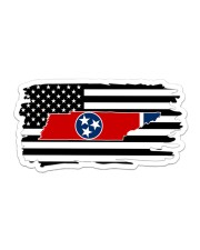 American and Tennessee map 9993 0037 Sticker - Single (Horizontal) thumbnail