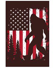 Bigfoot  American USA Flag - Blanket - poster Vertical Poster tile
