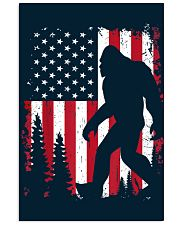 Bigfoot  American USA Flag - Blanket - poster 16x24 Poster front