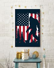 Bigfoot  American USA Flag - Blanket - poster 16x24 Poster lifestyle-holiday-poster-3