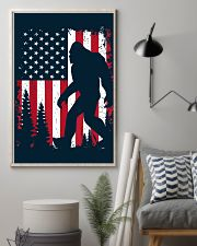Bigfoot  American USA Flag - Blanket - poster 16x24 Poster lifestyle-poster-1