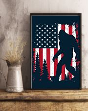 Bigfoot  American USA Flag - Blanket - poster 16x24 Poster lifestyle-poster-3