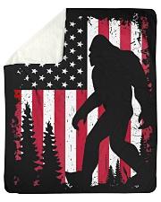 "Bigfoot  American USA Flag - Blanket - poster Sherpa Fleece Blanket - 50"" x 60"" thumbnail"