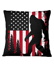 Bigfoot  American USA Flag - Blanket - poster Square Pillowcase thumbnail