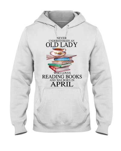 Old lady loves reading books April