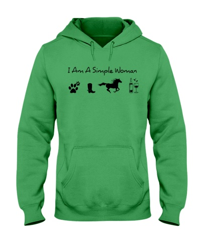 Horse simple woman dog wine cowboot