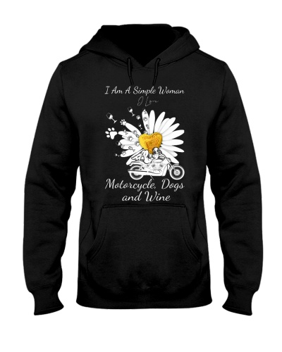 motorcycle daisy simple woman 0029
