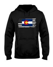 American and Colorado map 9993 0037 Hooded Sweatshirt thumbnail
