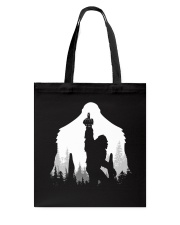 Bigfoot middle finger  in the forest - Accessories Tote Bag thumbnail
