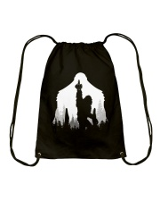 Bigfoot middle finger  in the forest - Accessories Drawstring Bag thumbnail