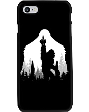 Bigfoot middle finger  in the forest - Accessories Phone Case thumbnail