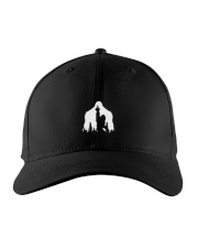 Bigfoot middle finger  in the forest - Accessories Embroidered Hat front