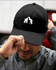 Bigfoot middle finger  in the forest - Accessories Embroidered Hat garment-embroidery-hat-lifestyle-01