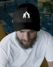 Bigfoot middle finger  in the forest - Accessories Embroidered Hat garment-embroidery-hat-lifestyle-06