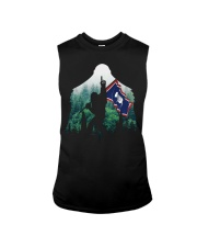 Bigfoot n1 Wyoming flag in the forest Sleeveless Tee thumbnail