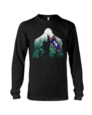 Bigfoot n1 Wyoming flag in the forest Long Sleeve Tee thumbnail