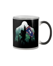 Bigfoot n1 Wyoming flag in the forest Color Changing Mug thumbnail
