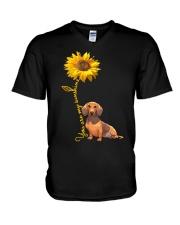 You are my sunshine - dachshund V-Neck T-Shirt thumbnail