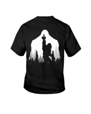 Bigfoot middle finger style - Back side Youth T-Shirt thumbnail