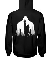 Bigfoot middle finger style - Back side Hooded Sweatshirt thumbnail