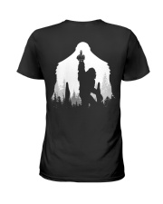 Bigfoot middle finger style - Back side Ladies T-Shirt thumbnail