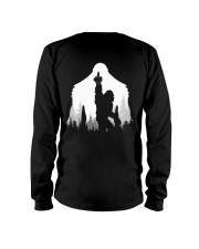 Bigfoot middle finger style - Back side Long Sleeve Tee thumbnail