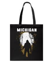 Michigan Bigfoot under the moon Tote Bag thumbnail