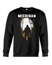 Michigan Bigfoot under the moon Crewneck Sweatshirt thumbnail