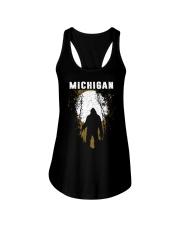 Michigan Bigfoot under the moon Ladies Flowy Tank thumbnail