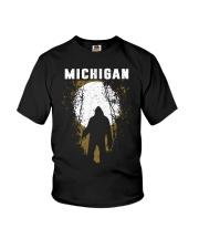 Michigan Bigfoot under the moon Youth T-Shirt thumbnail
