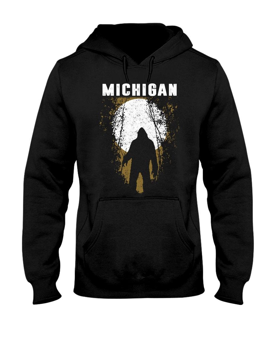Michigan Bigfoot under the moon Hooded Sweatshirt