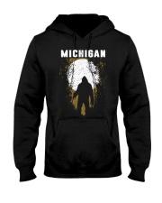 Michigan Bigfoot under the moon Hooded Sweatshirt front
