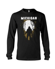 Michigan Bigfoot under the moon Long Sleeve Tee thumbnail
