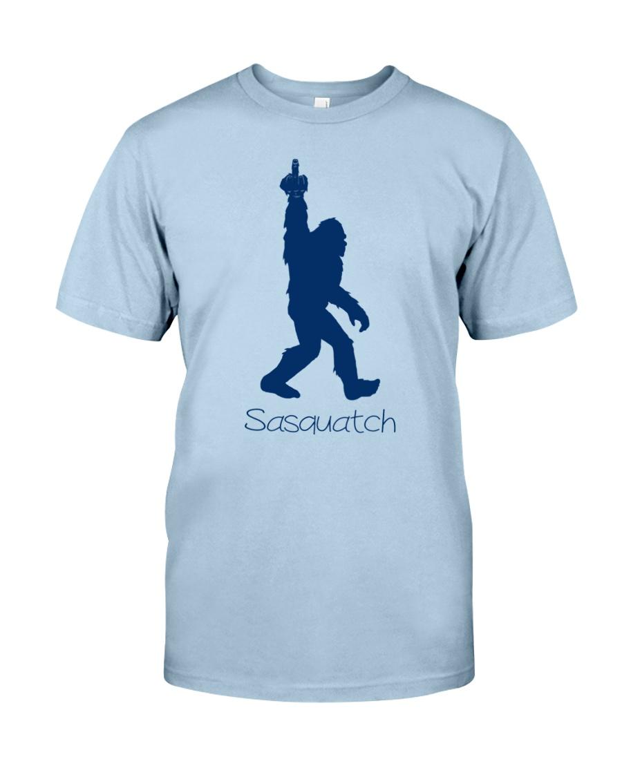 Bigfoot middle finger bl Classic T-Shirt