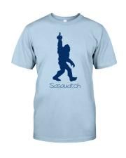 Bigfoot middle finger bl Classic T-Shirt front