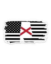American and Alabama map 9993 0037 Sticker - Single (Horizontal) thumbnail