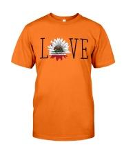 Love sunflower California flag 0037 Classic T-Shirt front