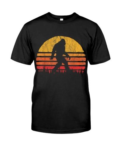 Retro Bigfoot Silhouette Sun Believe