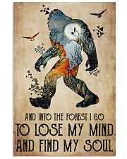 Bigfoot into the forest 24x36 Poster front