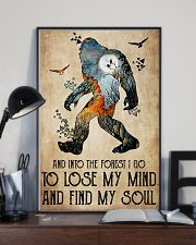 Bigfoot into the forest 24x36 Poster lifestyle-poster-2