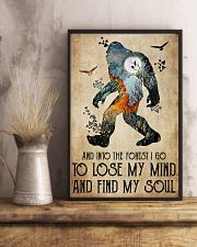 Bigfoot into the forest 24x36 Poster lifestyle-poster-3