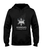 Kansas is always home 9992 0037 E6 Hooded Sweatshirt front