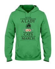 A lady who loves cats and was born in March Hooded Sweatshirt front