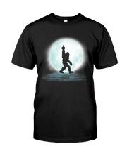 Bigfoot middle finger under moon Classic T-Shirt thumbnail