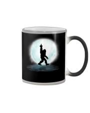 Bigfoot middle finger under moon Color Changing Mug thumbnail