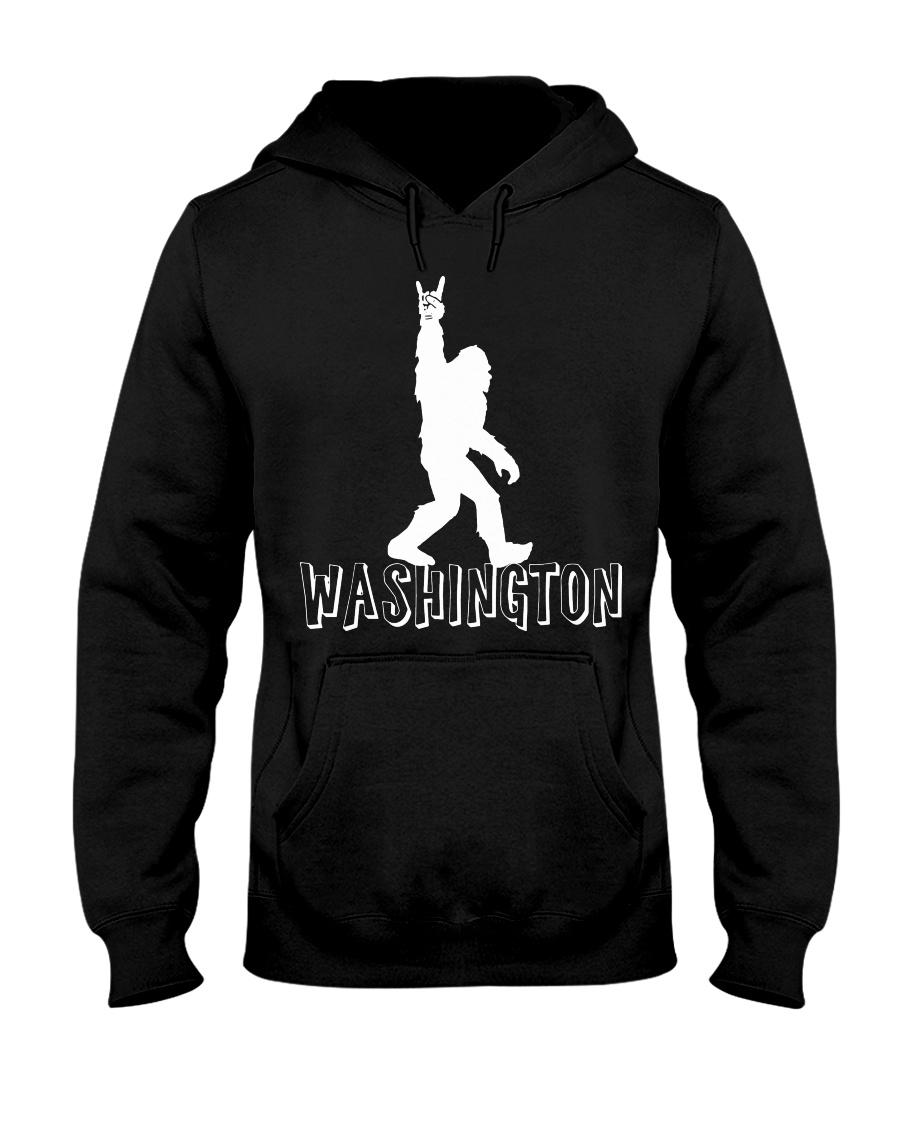 Bigfoot Rock And Roll Washington Hooded Sweatshirt